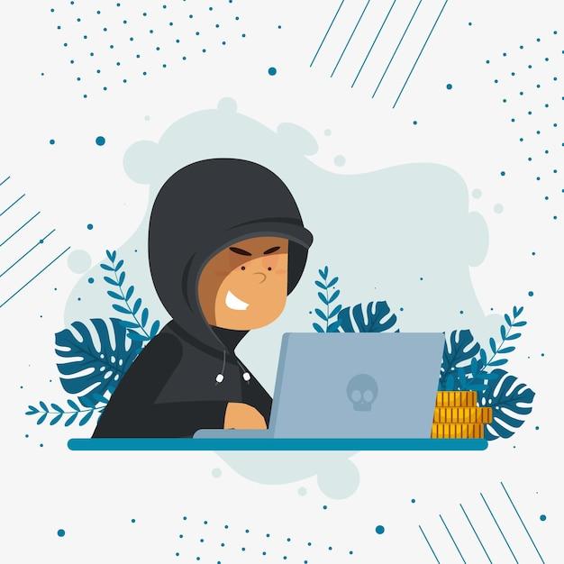 Hacker-aktivitätskonzept Kostenlosen Vektoren