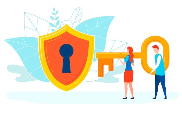 Hacking passwort flat Premium Vektoren
