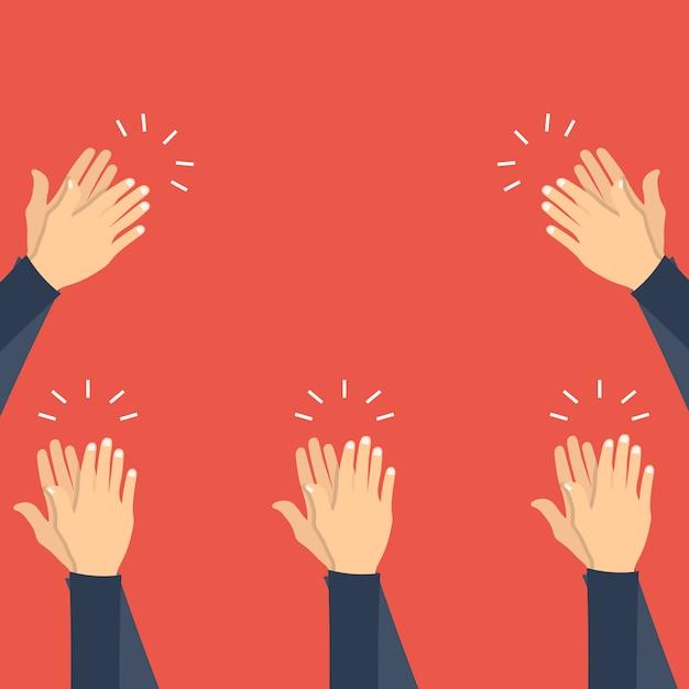 Hände klatschen, applaus Premium Vektoren