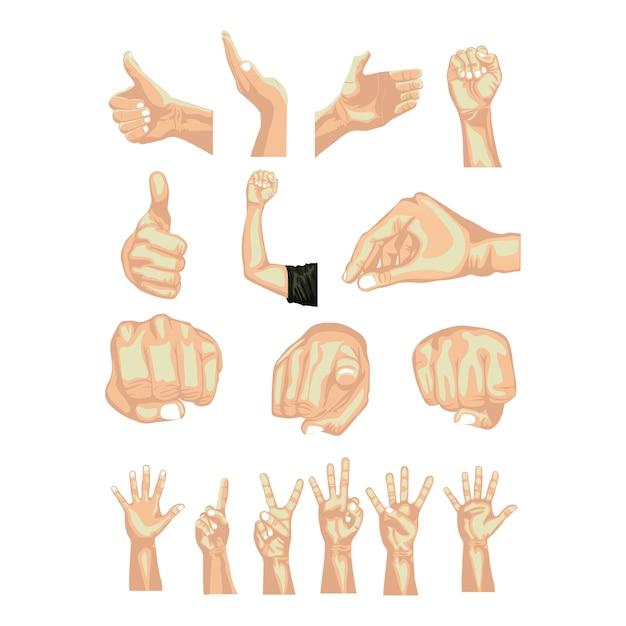 Hände simbols Premium Vektoren