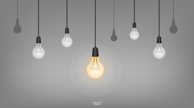 Hängende Deckenlampe Der Abstrakten Glühlampe Für