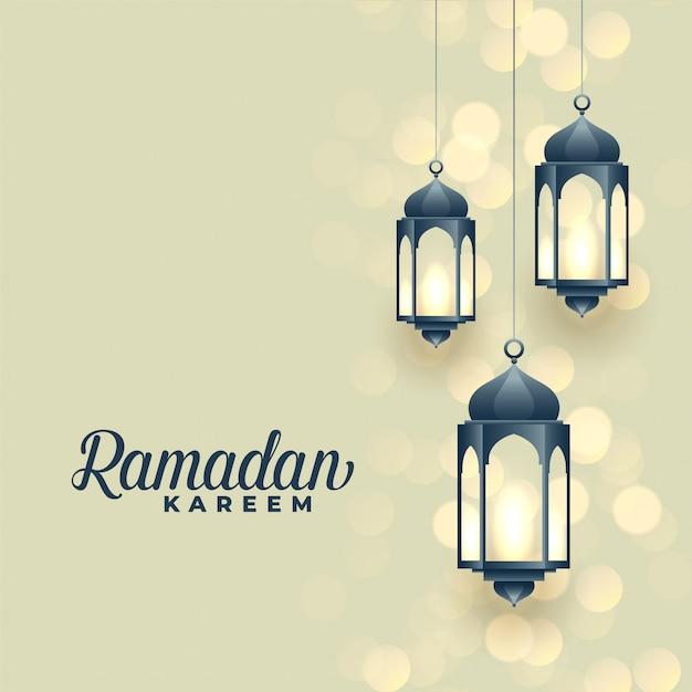 Hängende lampen, ramadan kareem festival design Kostenlosen Vektoren