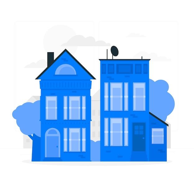 Häuser konzept illustration Kostenlosen Vektoren