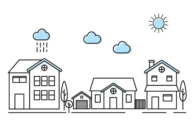 Häuser Kostenlosen Vektoren