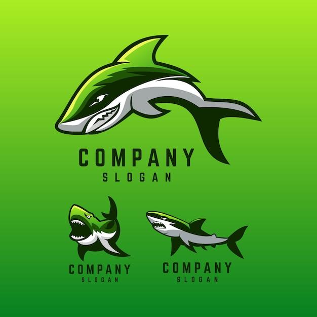 Hai-logo-design Premium Vektoren