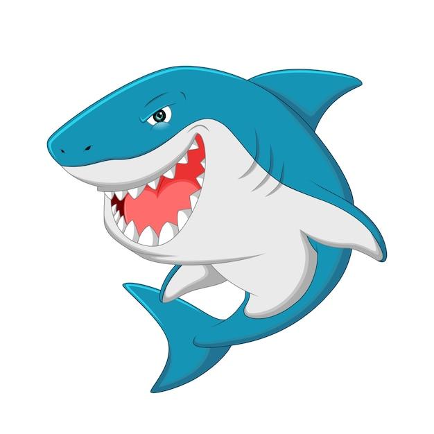 Haifisch-cartoon Premium Vektoren