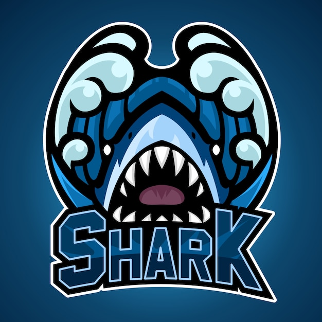 Haifischlogo Premium Vektoren