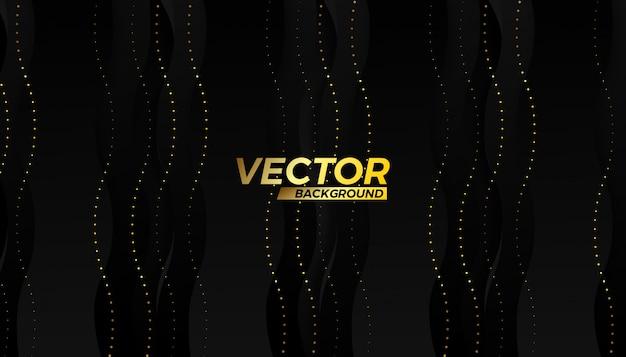 Halbes schlagflußhintergrunddesign des goldvektors Premium Vektoren