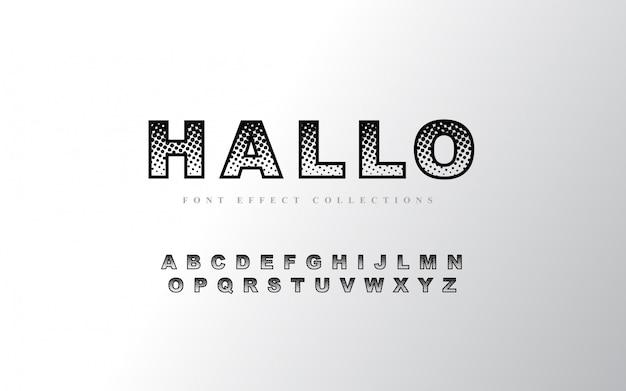 Halbton alphabet schriftvorlage Premium Vektoren