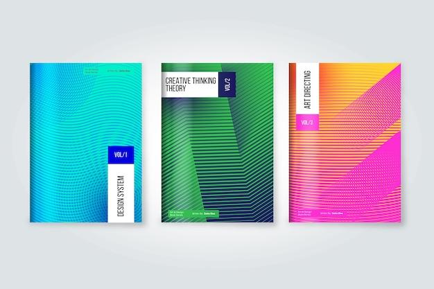 Halbton-farbverlauf-cover-auflistung Kostenlosen Vektoren
