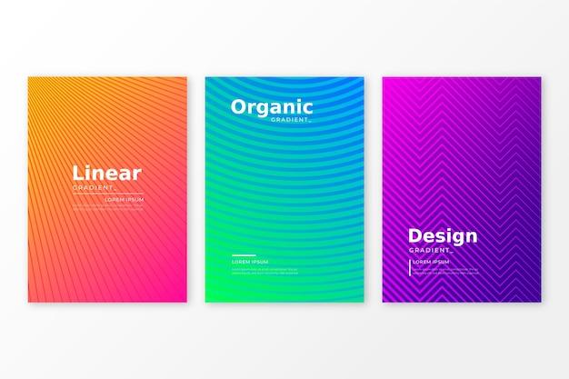 Halbton-gradienten-cover-collection-konzept Kostenlosen Vektoren
