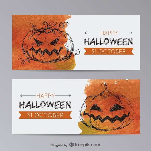 halloween banner vorlagen mit k rbis download der. Black Bedroom Furniture Sets. Home Design Ideas