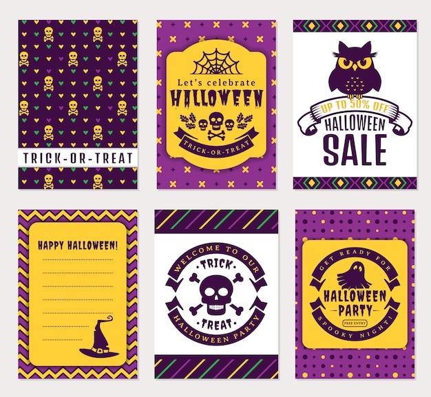 Halloween-banner Premium Vektoren