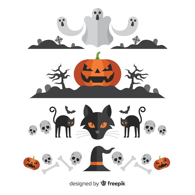 Halloween-Bordersammlung | Download der kostenlosen Vektor