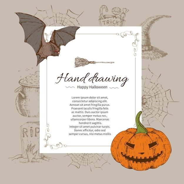 Halloween briefvorlage Kostenlosen Vektoren
