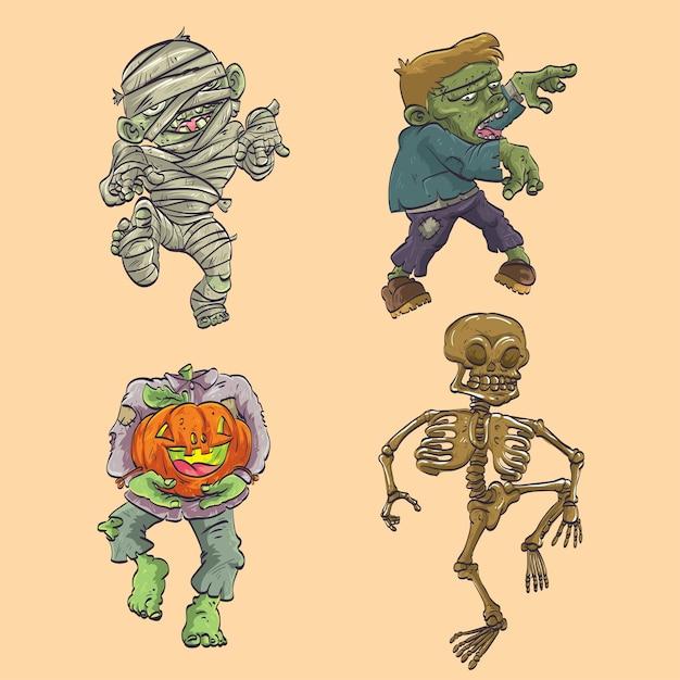 Halloween charakter Premium Vektoren