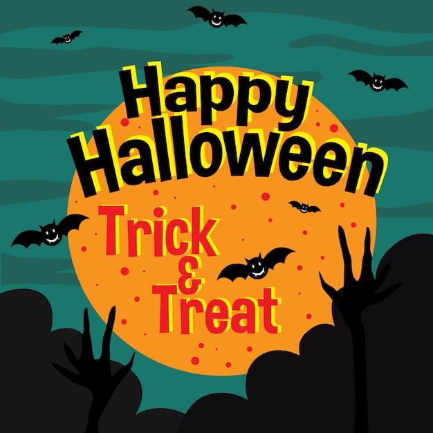 Halloween-einladungskarte Premium Vektoren