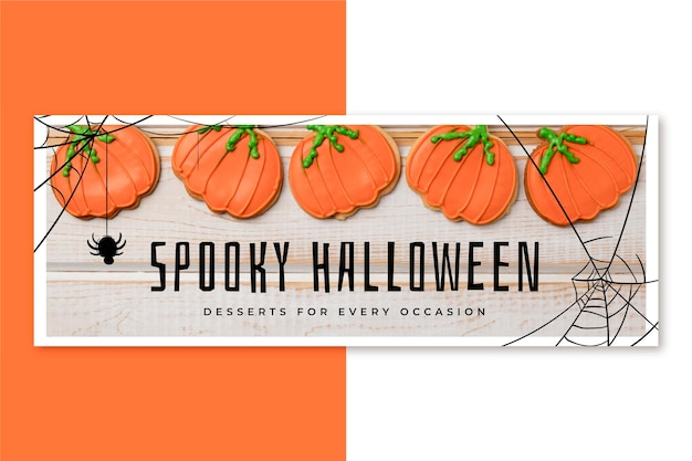 Halloween facebook cover Kostenlosen Vektoren
