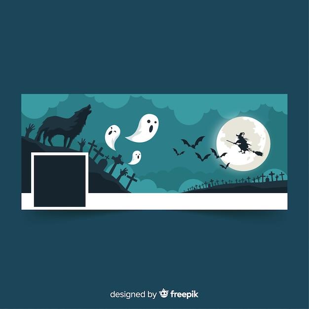 Halloween facebook covervorlage Kostenlosen Vektoren