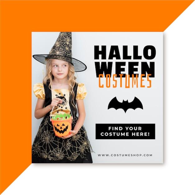 Halloween facebook post Kostenlosen Vektoren