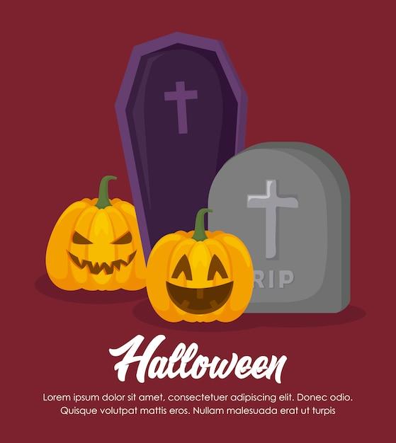 Halloween feier banner Kostenlosen Vektoren