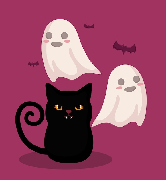 Halloween feier Kostenlosen Vektoren
