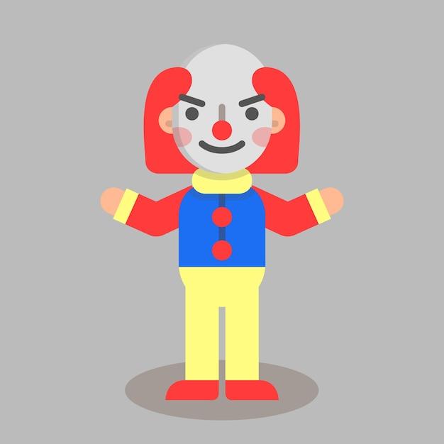 Halloween flacher clown Premium Vektoren