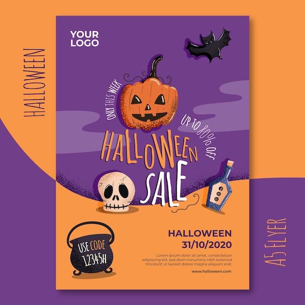 Halloween flyer vorlage Kostenlosen Vektoren