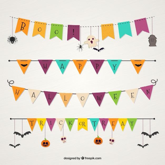 Halloween girlande sammlung download der kostenlosen vektor - Halloween girlande ...