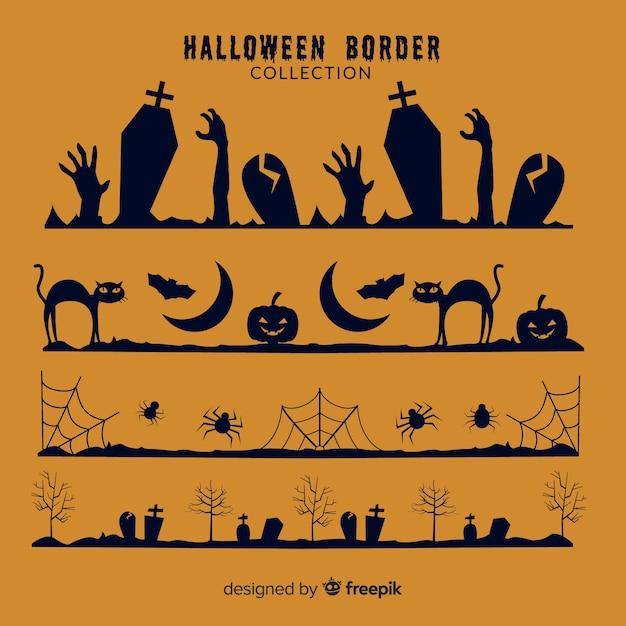 Halloween-grenze gesetzt Kostenlosen Vektoren