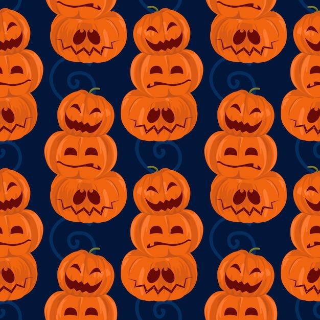 Halloween grüne frankenstein und mama nahtlose muster Premium Vektoren