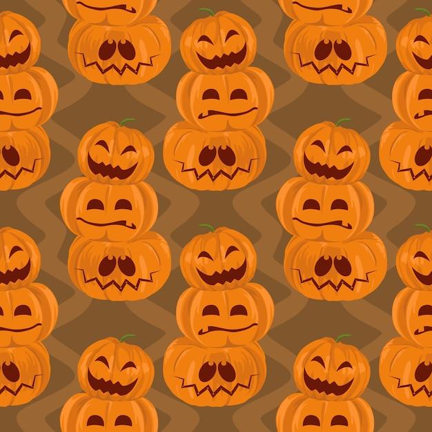 Halloween grüne frankenstein und web spinne nahtlose muster Premium Vektoren