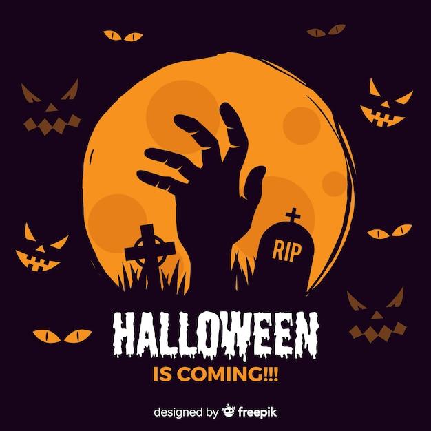 Halloween-hintergrund Kostenlosen Vektoren
