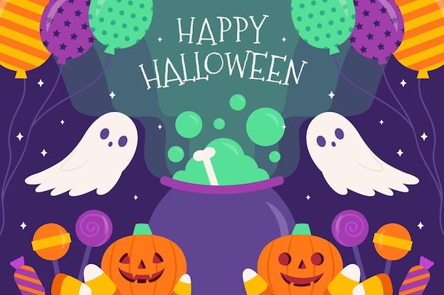 Halloween hintergrundthema Kostenlosen Vektoren