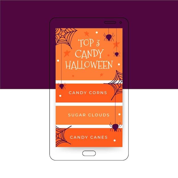 Halloween instagram geschichte Kostenlosen Vektoren