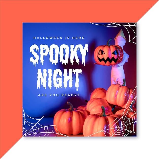Halloween instagram post Kostenlosen Vektoren