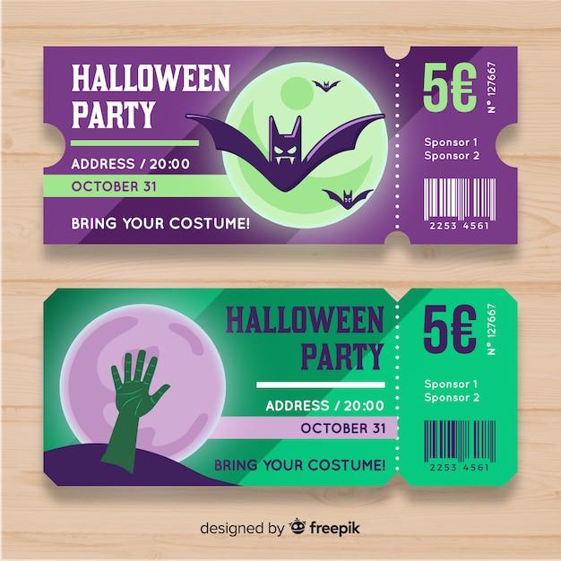 Halloween karten Kostenlosen Vektoren