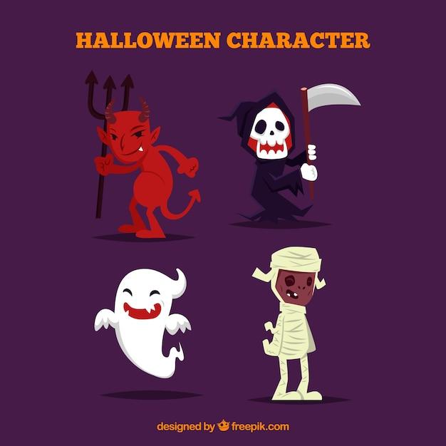 Halloween-kostüm-pack Kostenlosen Vektoren