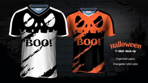 Halloween-kostüm-t-shirts modell-schablone Premium Vektoren