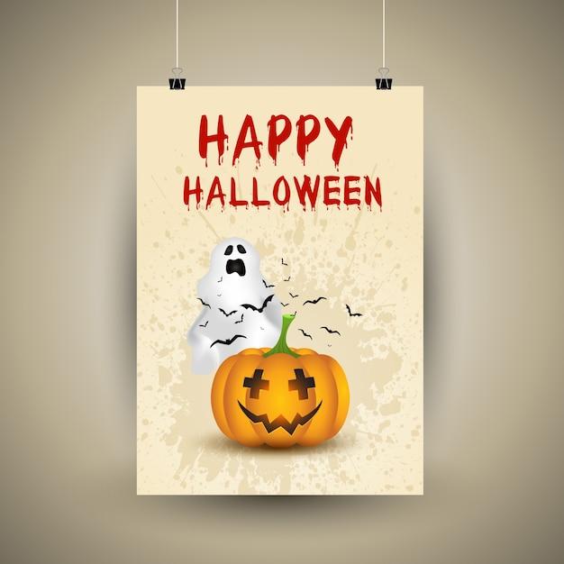 Halloween Kürbis Hintergrund Kostenlose Vektoren