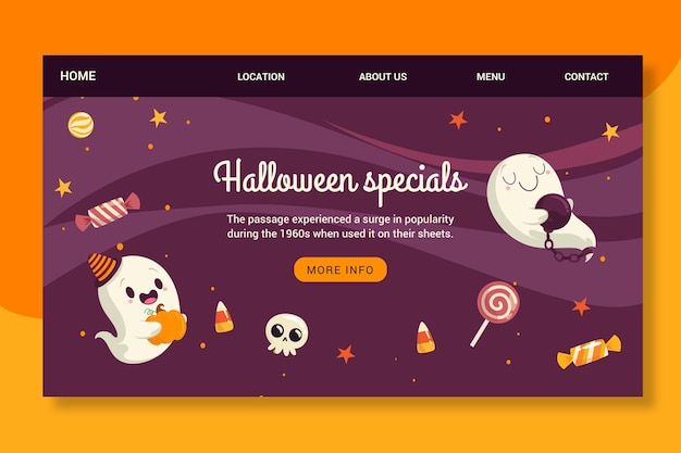 Halloween landing page Kostenlosen Vektoren