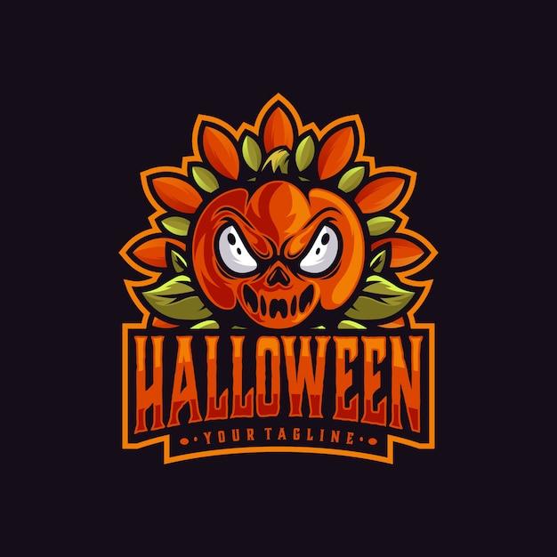 Halloween maskottchen logo vorlage Premium Vektoren