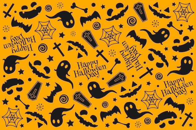 Halloween muster design. Premium Vektoren
