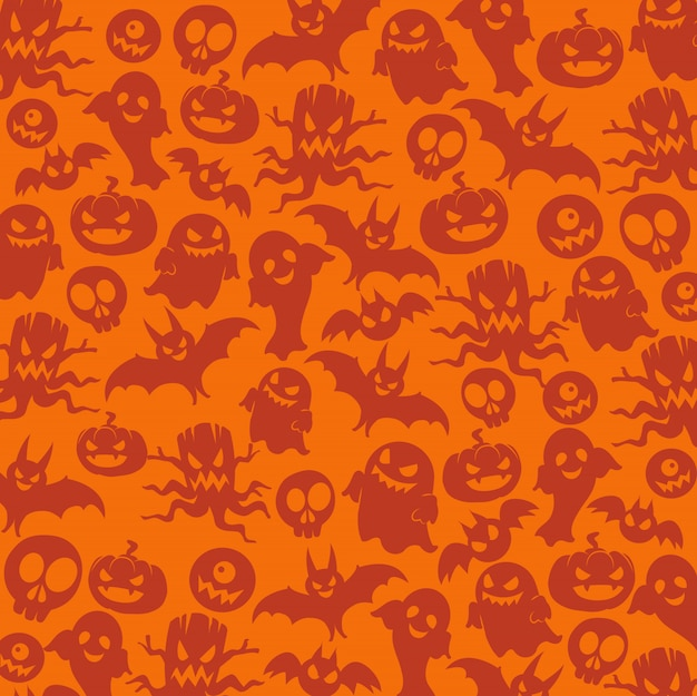 Halloween nahtlose muster Premium Vektoren
