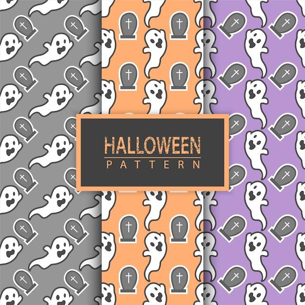 Halloween nahtlose muster. Premium Vektoren