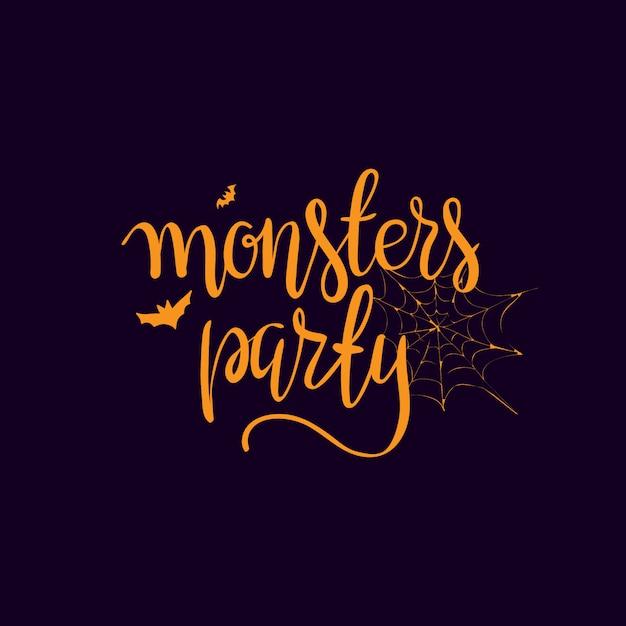 Halloween-parteischablonen-typografieelemente. Kostenlosen Vektoren