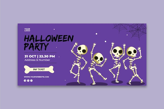 Halloween-party-banner Premium Vektoren