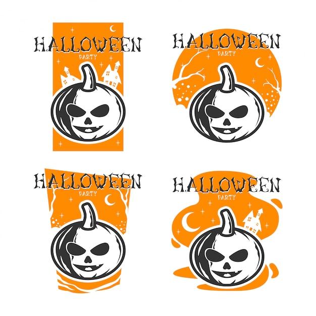 Halloween party (flaches design) Premium Vektoren