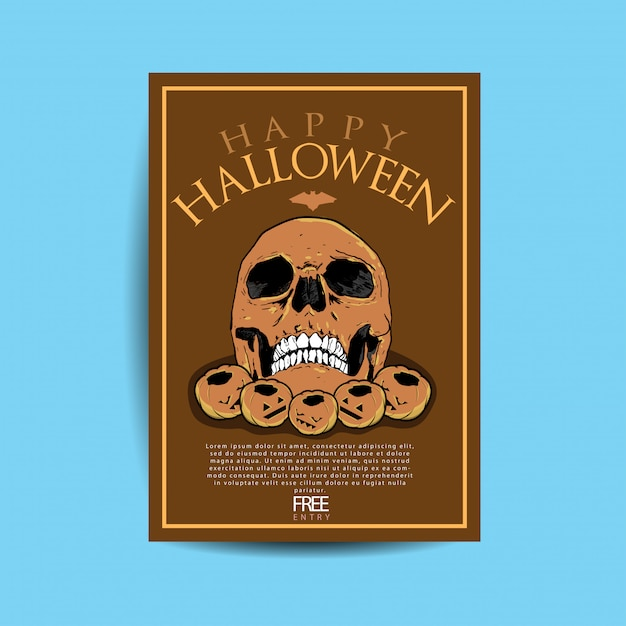 Halloween party flyer Premium Vektoren