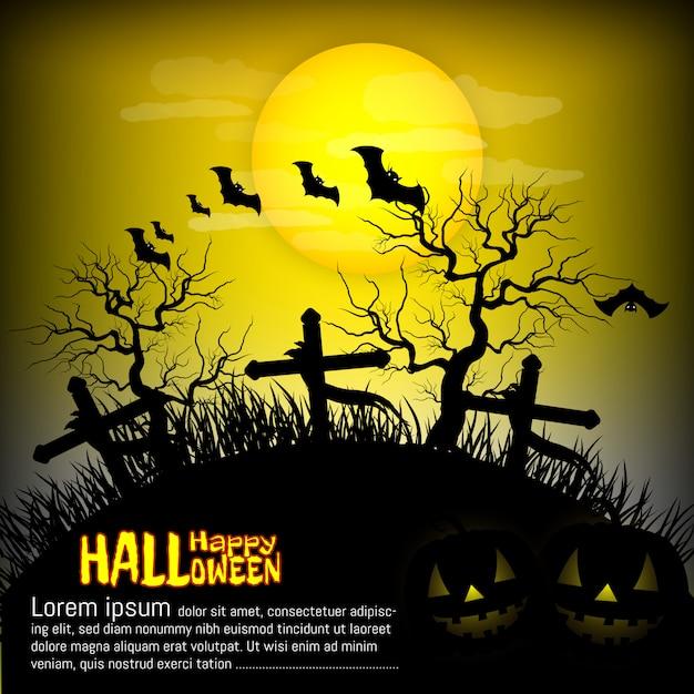 Halloween-party, grab, hintergrund vektor Premium Vektoren